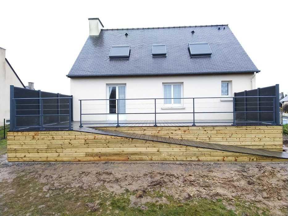 Réalisation d''une terrasse en bois à Saint-Lormel (22) 0